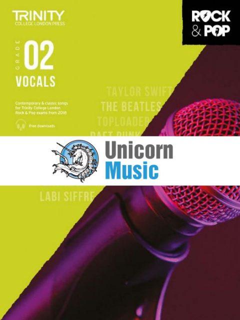 trinity rock pop 2018 vocals grade 2