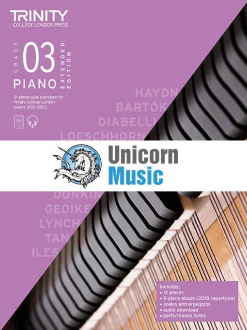 Trinity College London Grade 3 Piano 2021-2023