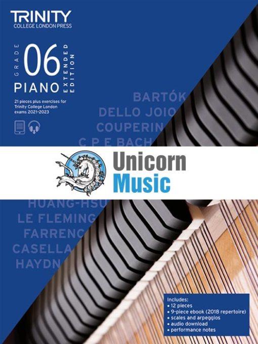 Trinity College London Grade 6 Piano 2021-2023